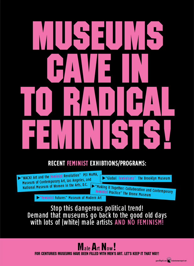 MUSEUMS CAVE IN TO RADICAL FEMINISTS!
