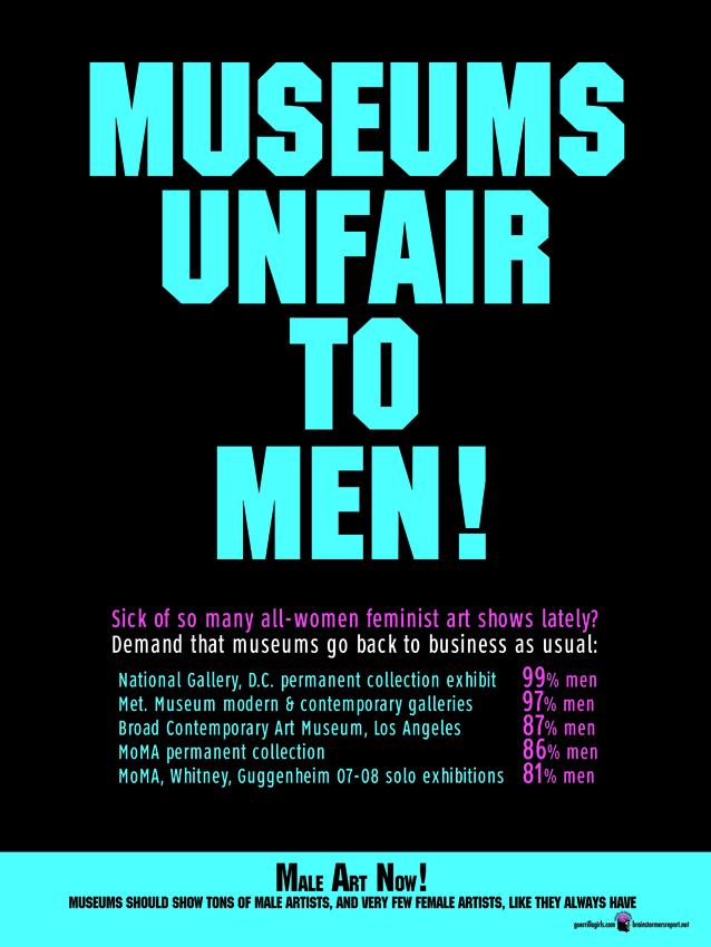 MUSEUMS UNFAIR TO MEN!