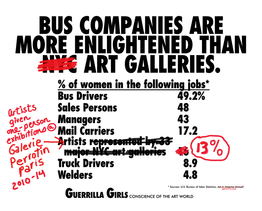 BUS COMPANIES ARE MORE ENLIGHTENED THAN ART GALLERIES (RE-DEUX)
