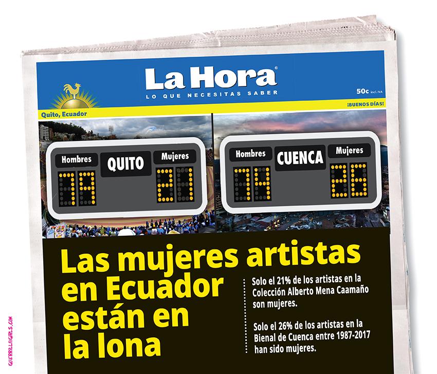 LAS MUJERES ARTISTAS EN ECUADOR ESTAN EN LA LONA
