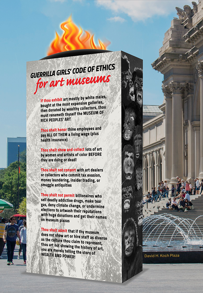 GUERRILLA GIRLS' CODE OF ETHICS FOR ART MUSEUMS MONUMENT