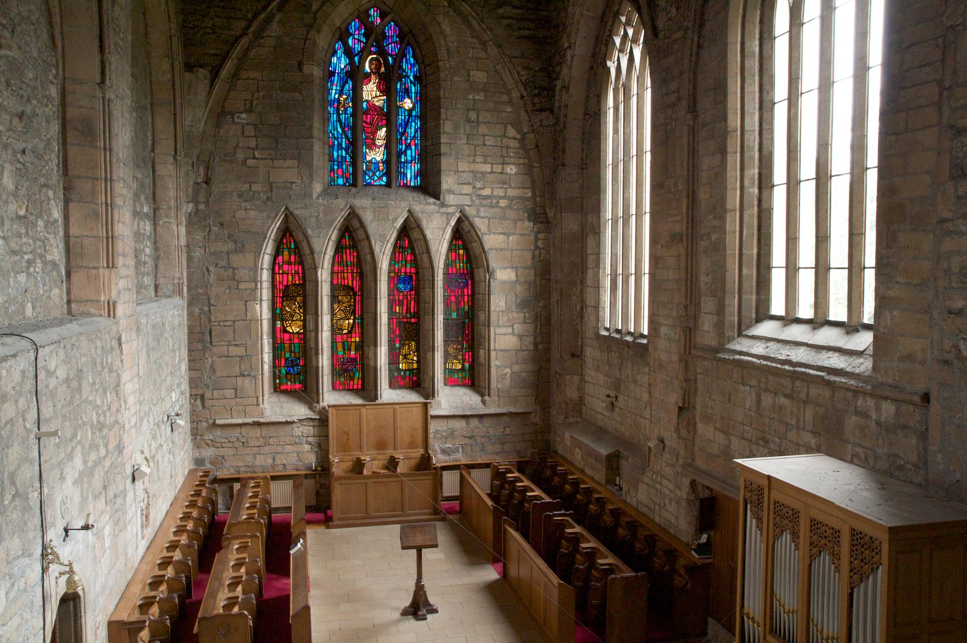 The choir of Pluscarden Abbey