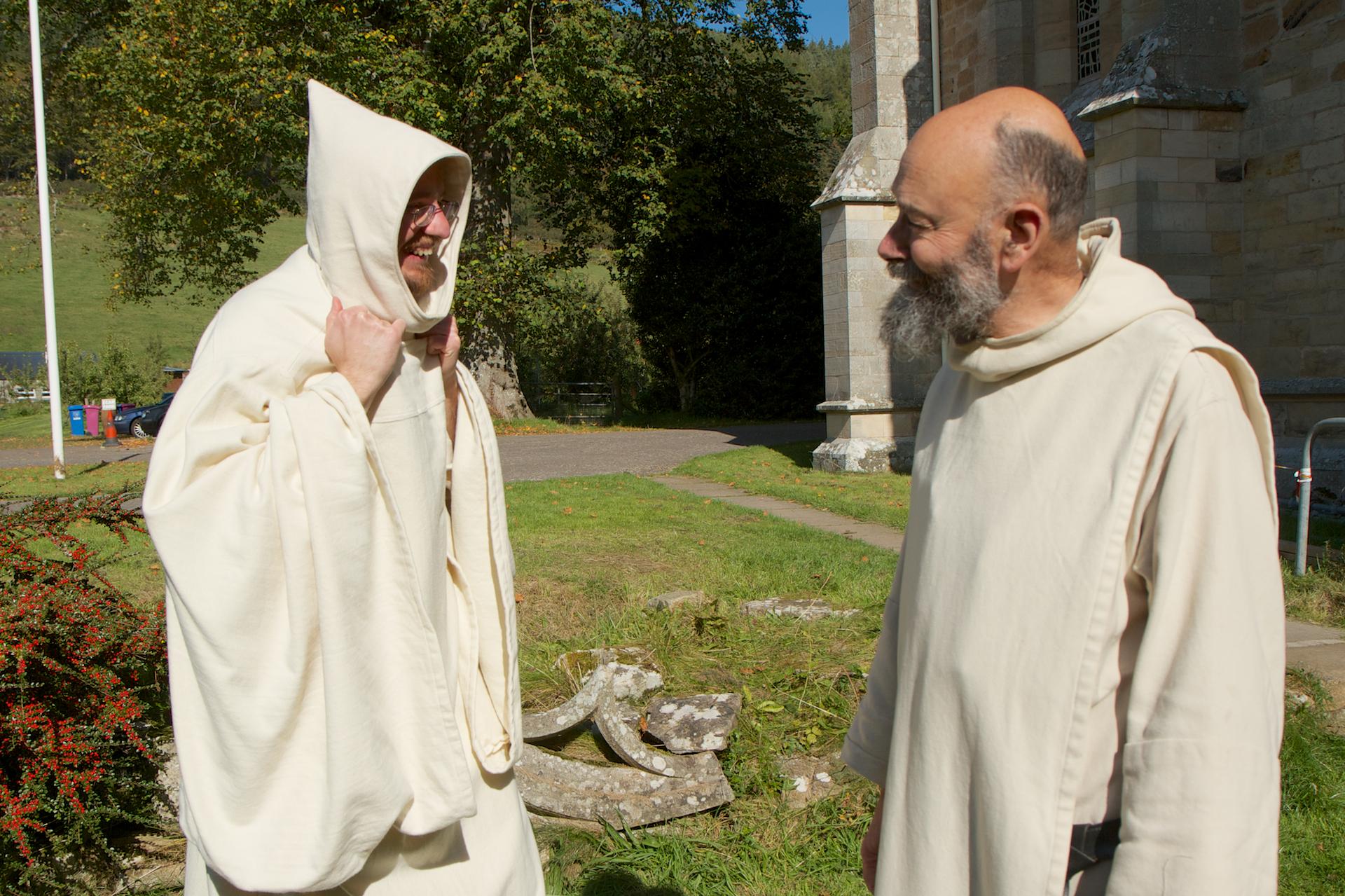 White-habited Benedictine monks of Pluscarden