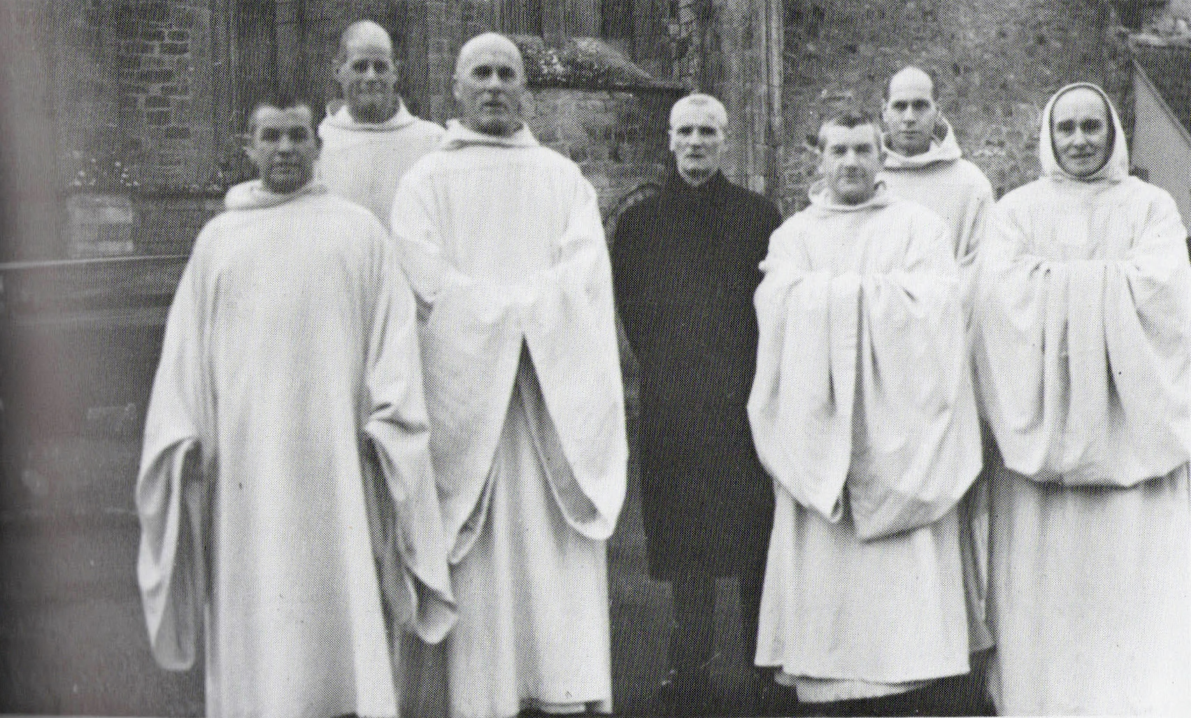 Lay brothers of Pluscarden at their solemn profession, 21st November 1966