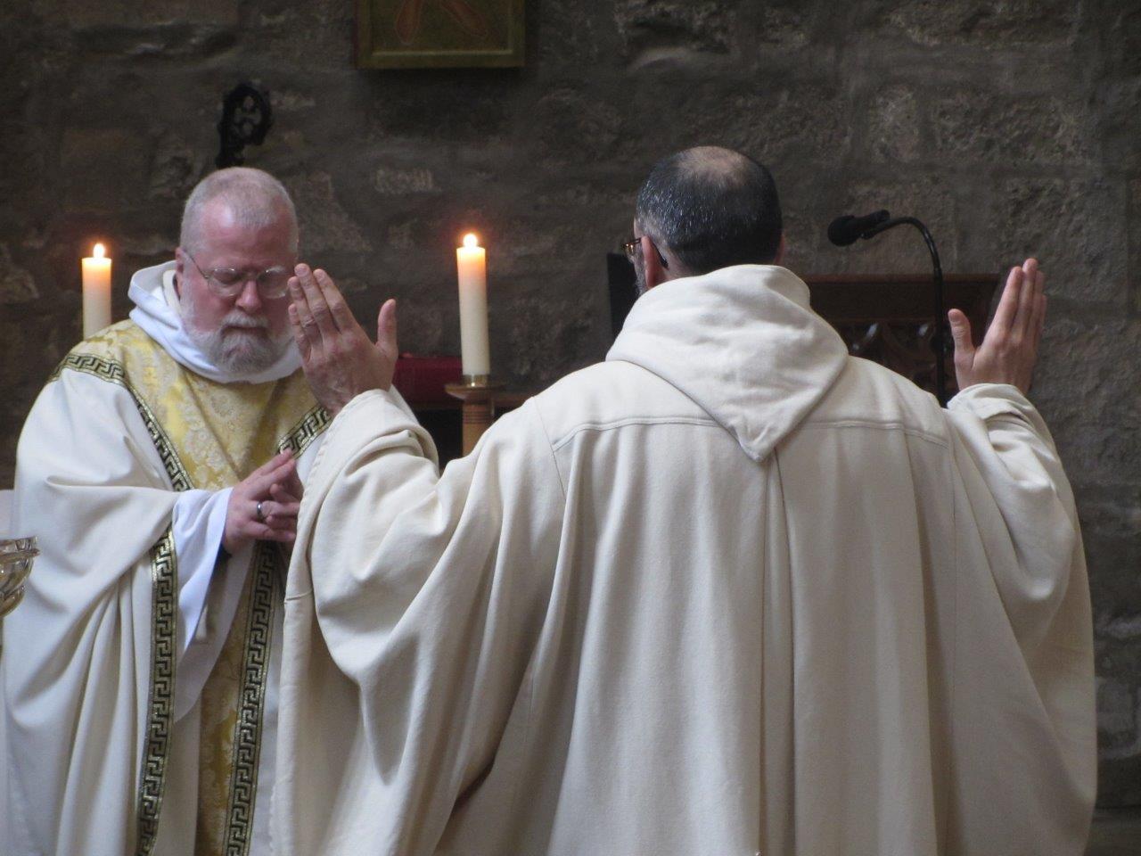 Br. Cyprian renrews his vows.jpg