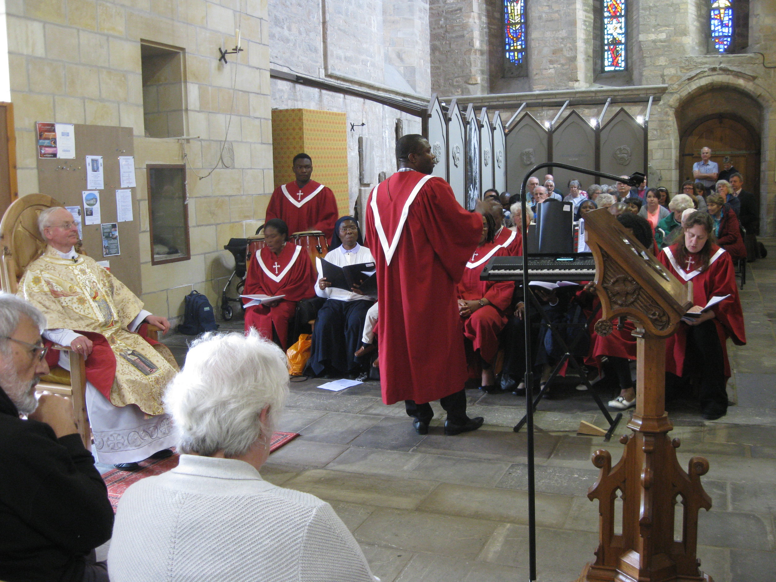 The Nigerian Choir in the Transepts