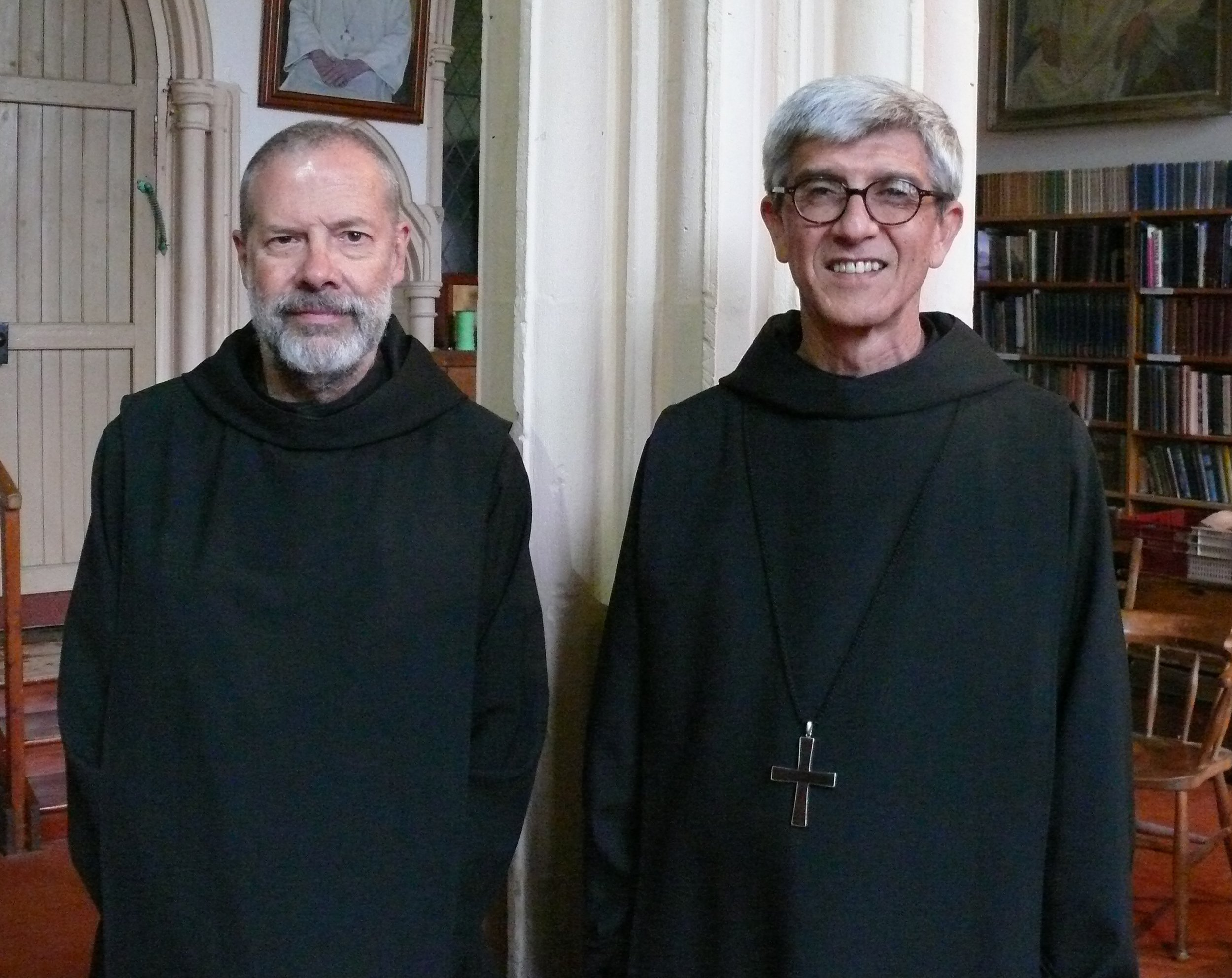 Abbot President of our Subiaco-Cassinese Benedictine Congregation, Abbot Guillermo Arboleda, and Dom Christian Leisy, a monk of Christ-in-the-Desert in New Mexico, USA