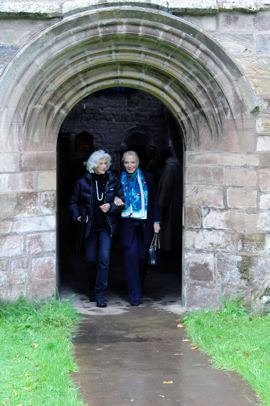 Leaving Church with Countess Cawdor