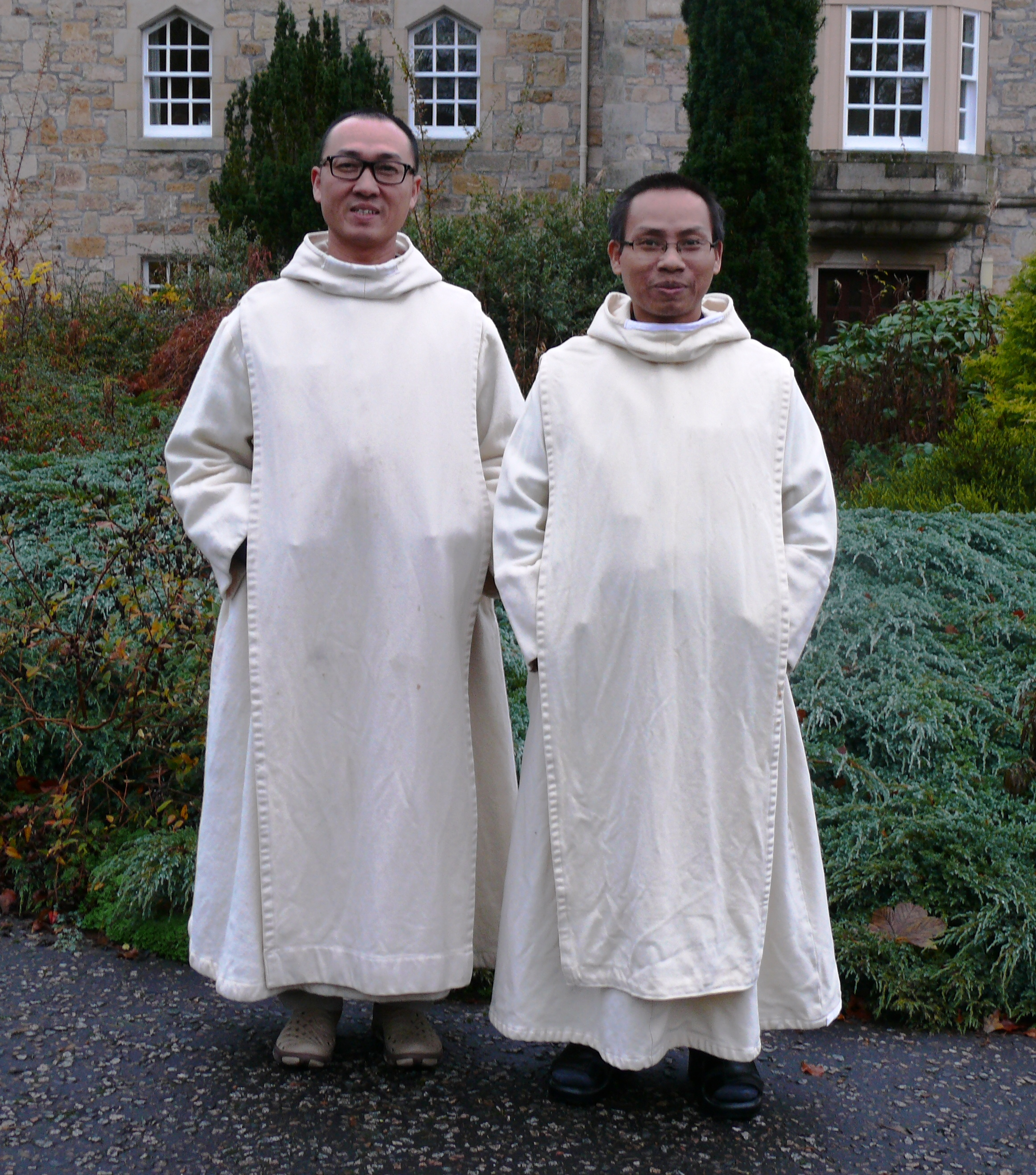 Br. Martin de Porres Pham Dinh Hung, and Br. John Bosco Nguyen Tran Anh Tu, from the monastery of Thien Phuoc in Vietnam