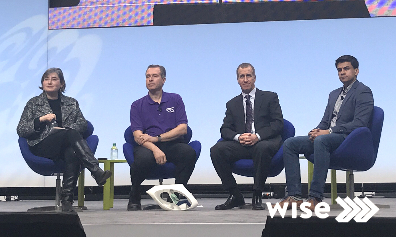 Irina Sigalovsky, Mike Stanley, Alex Gruzen, and Ali Kamil on stage at NAIAS 2018.
