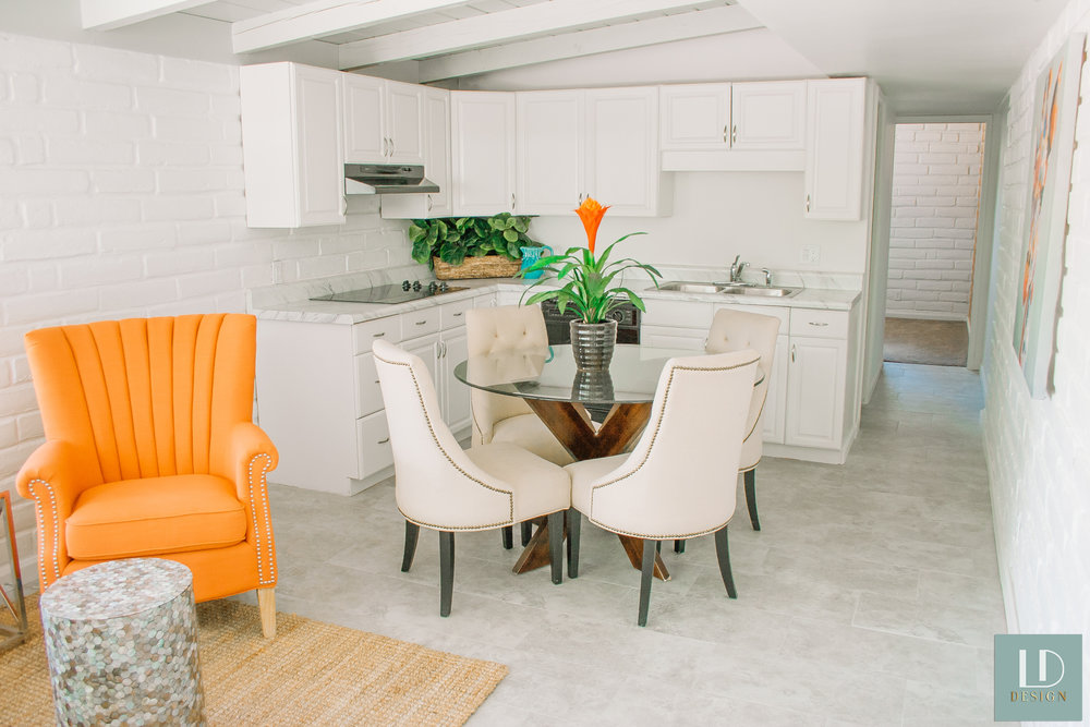 orange chair white kitchen modern carpet plant interior design top tuscon