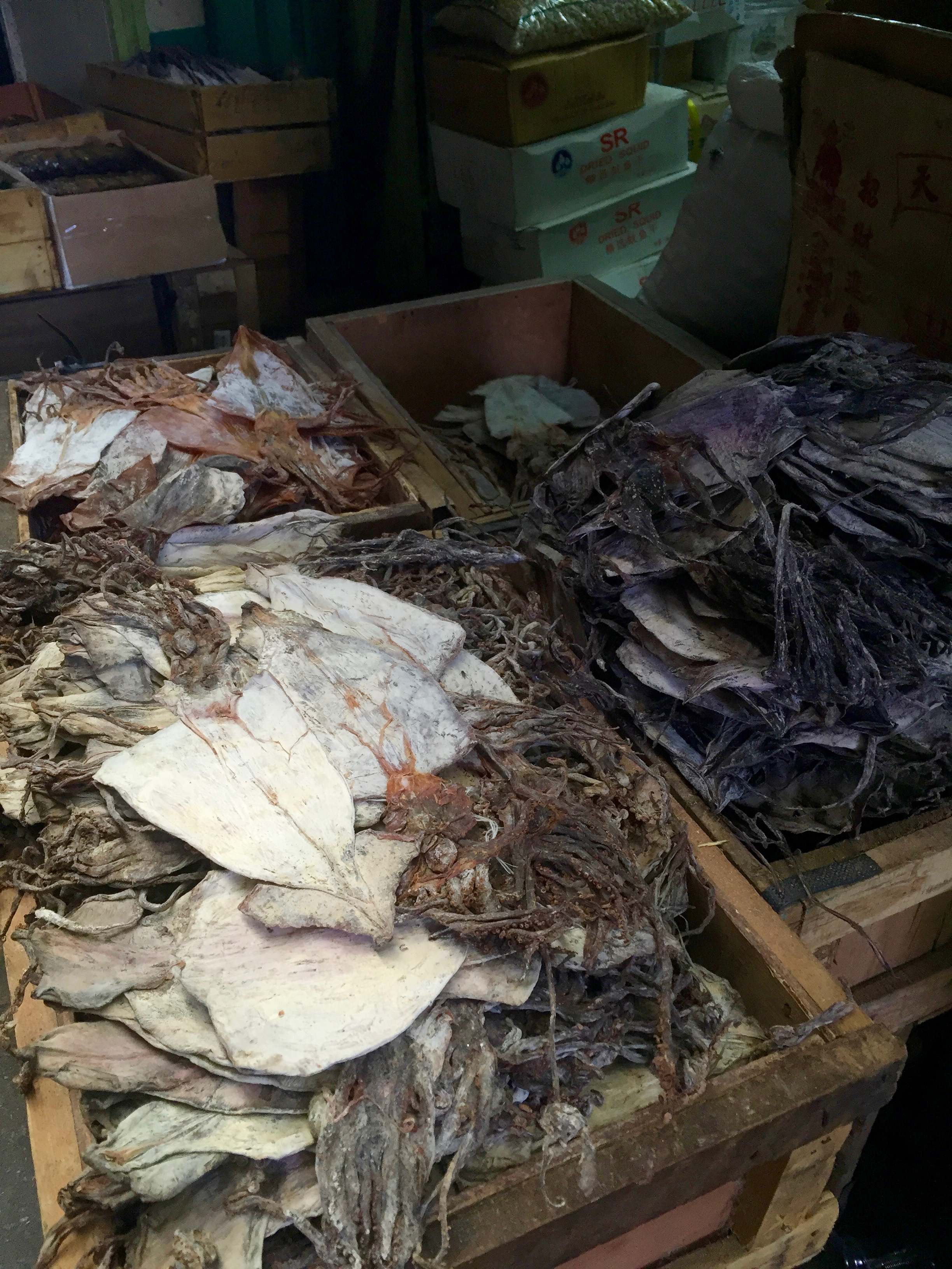 I have a special love for the street markets in Asia.  There is something amazing about piles of dried fish in a dark shop, somewhere off the main road.
