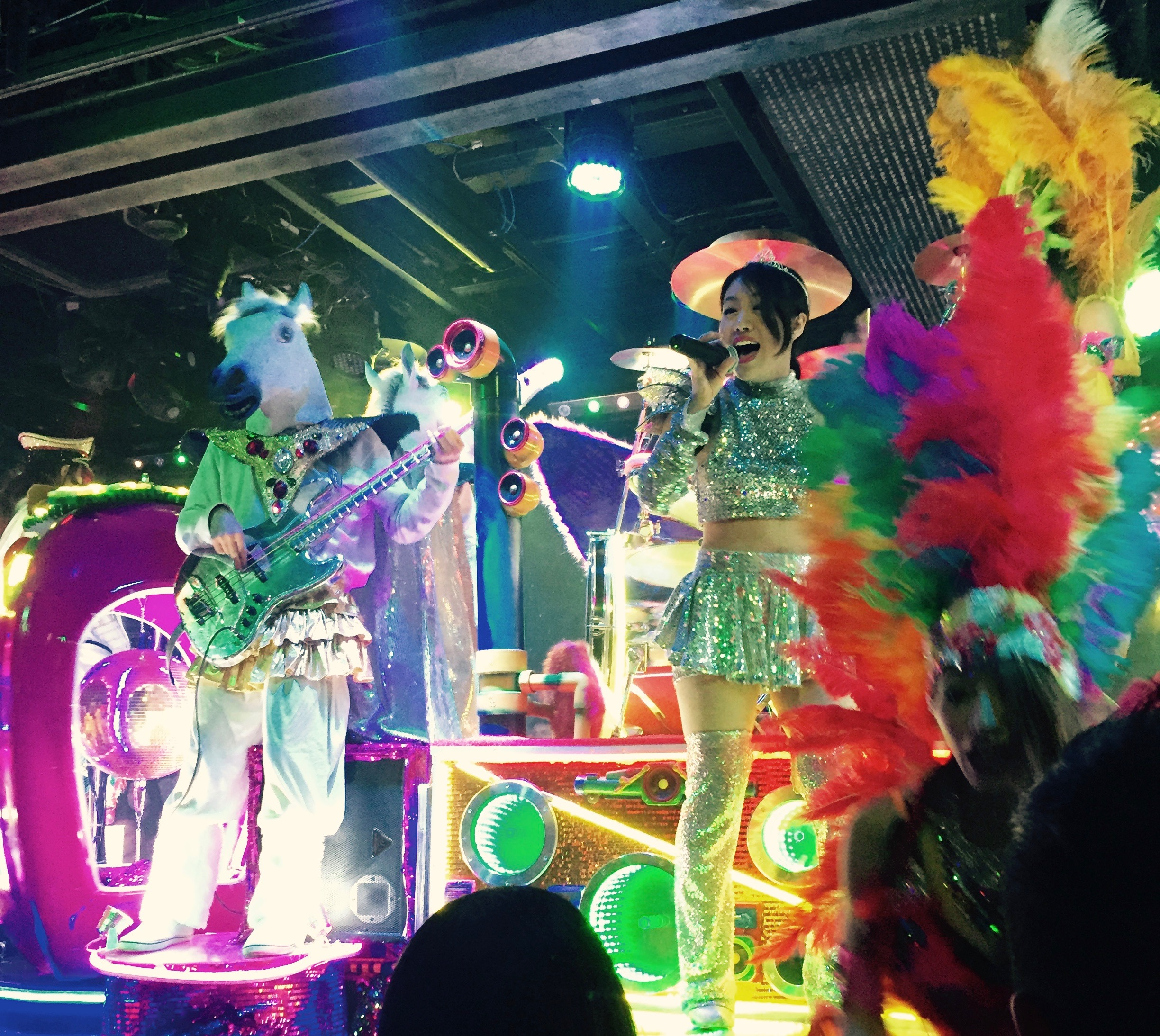 Lauren wanted to visit the Robot Restaurant, which I was unfamiliar with, but I'm so glad we went. It was an epic event of color, light, lasers, dancing girls and of course Robots.