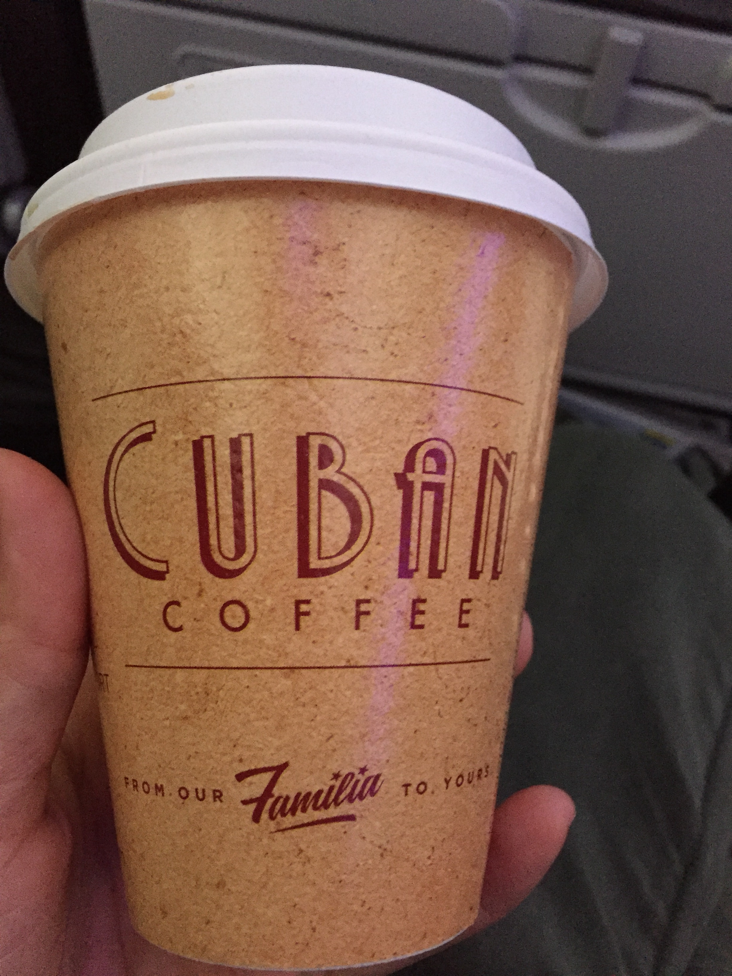 If I have to do an early morning layover, Miami is my favorite place to do it. Just for the Cuban coffee....and the potato balls, oh and the pastries. I love the pastries.