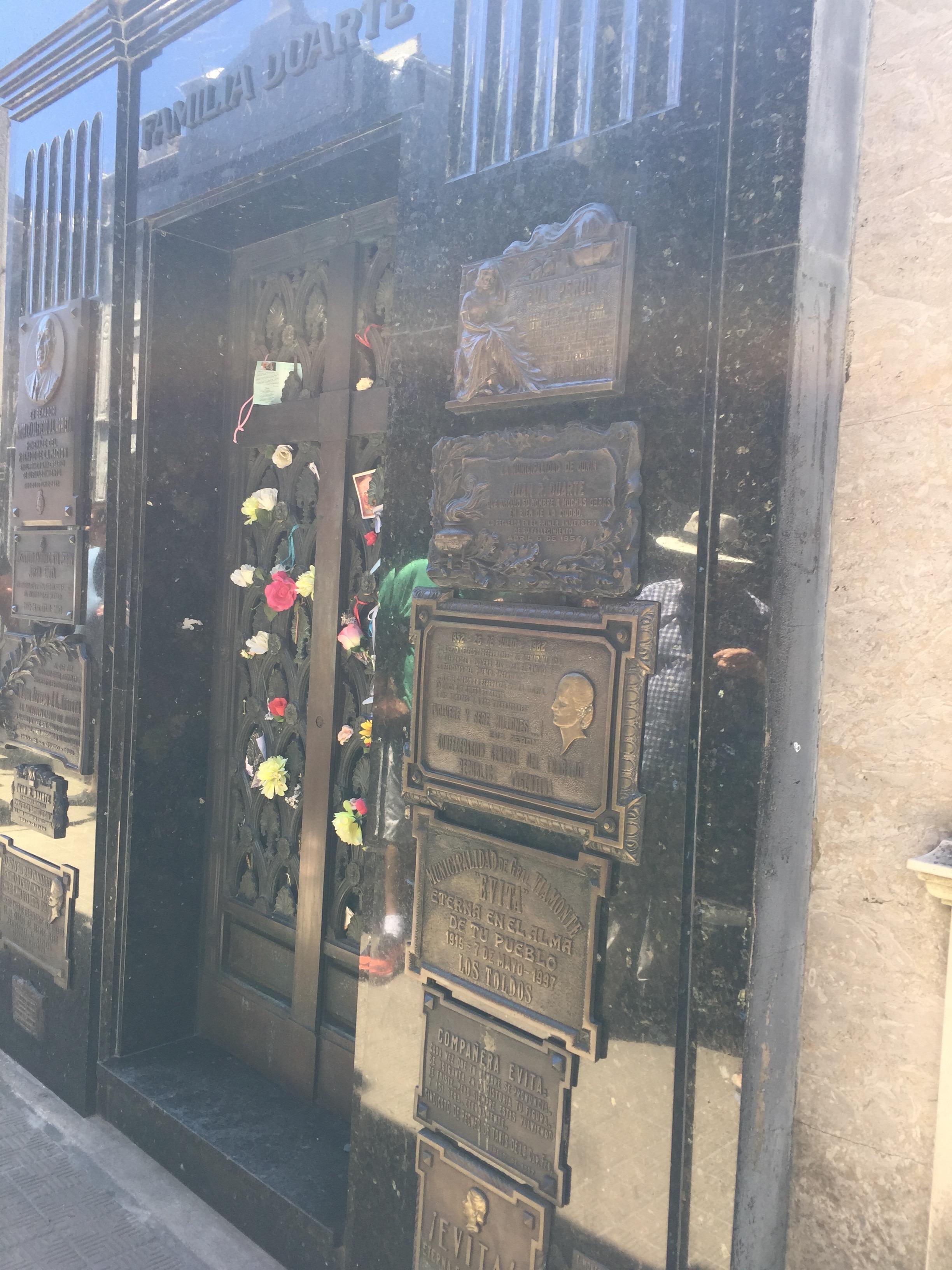 Eva Peron's grave site
