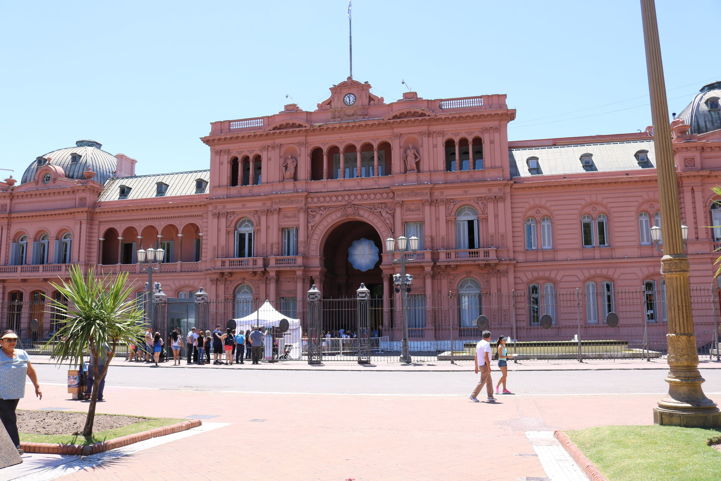 """The Casa Rosada, where Eva Peron addressed her people....I don't believe she actually sang, """"Don't Cry for me Argentina,"""" but Madonna did....which was my main reference for everything Evita, until I went to her museum.  Up the street, about a block away from here you will find the start of the San Telmo market."""