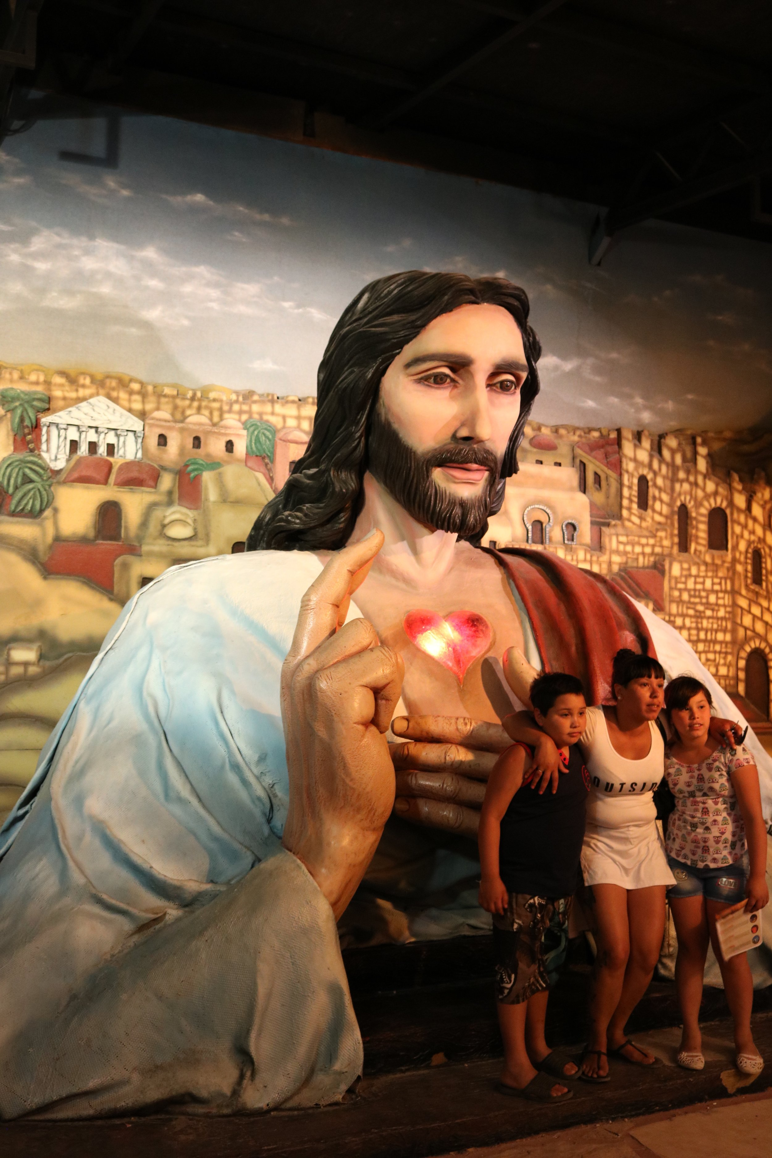 Tierra Santa's most incredible photo op....Giant Jesus.