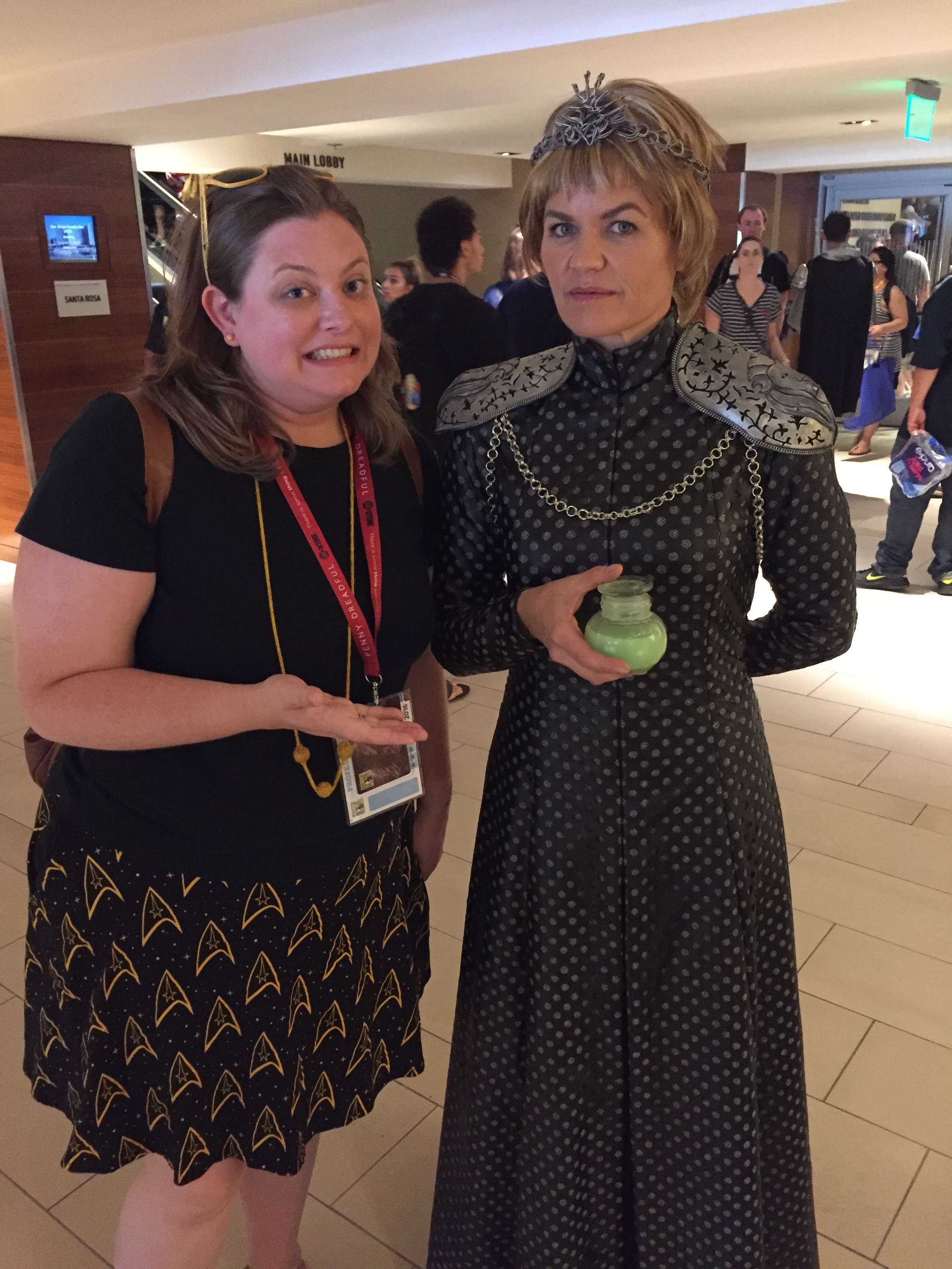 Found Cersei Lannister at Comic Con this year.