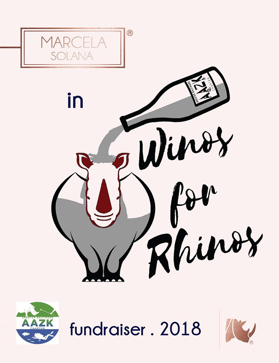 WINOS FOR RHINOS . GBAAZK FUNDRAISER
