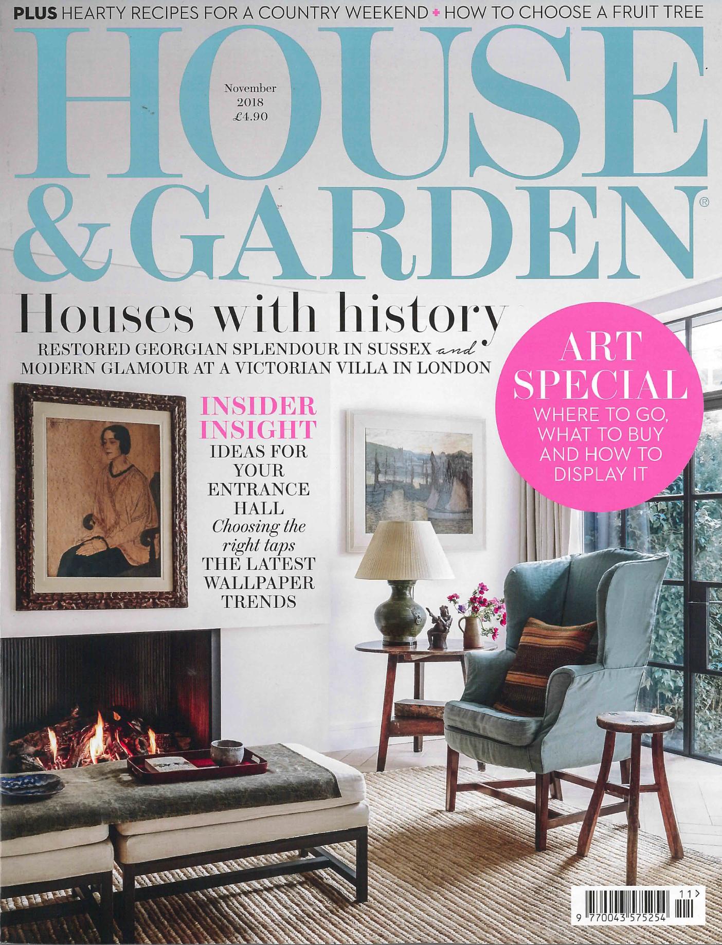 HOUSE & GARDEN UK MAGAZINE NOVEMBER 2018