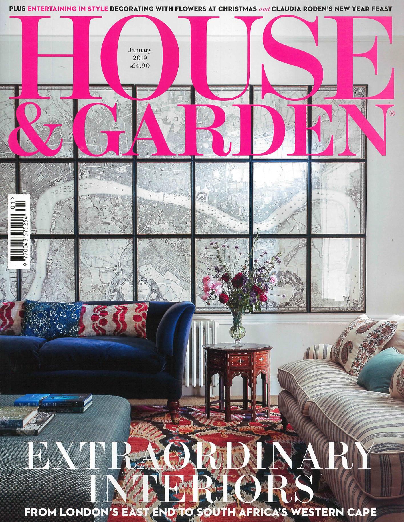 HOUSE & GARDEN UK MAGAZINE JANUARY 2019