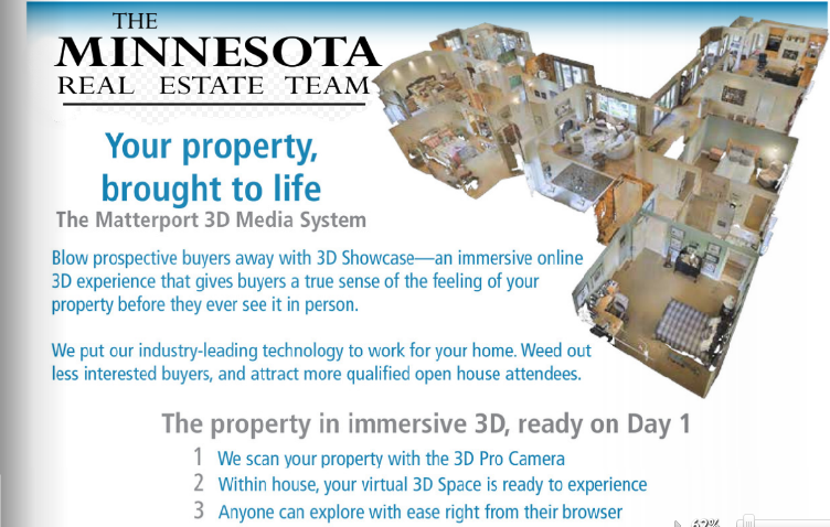 Receive a branded 1-pager highlighting 3D tour benefits