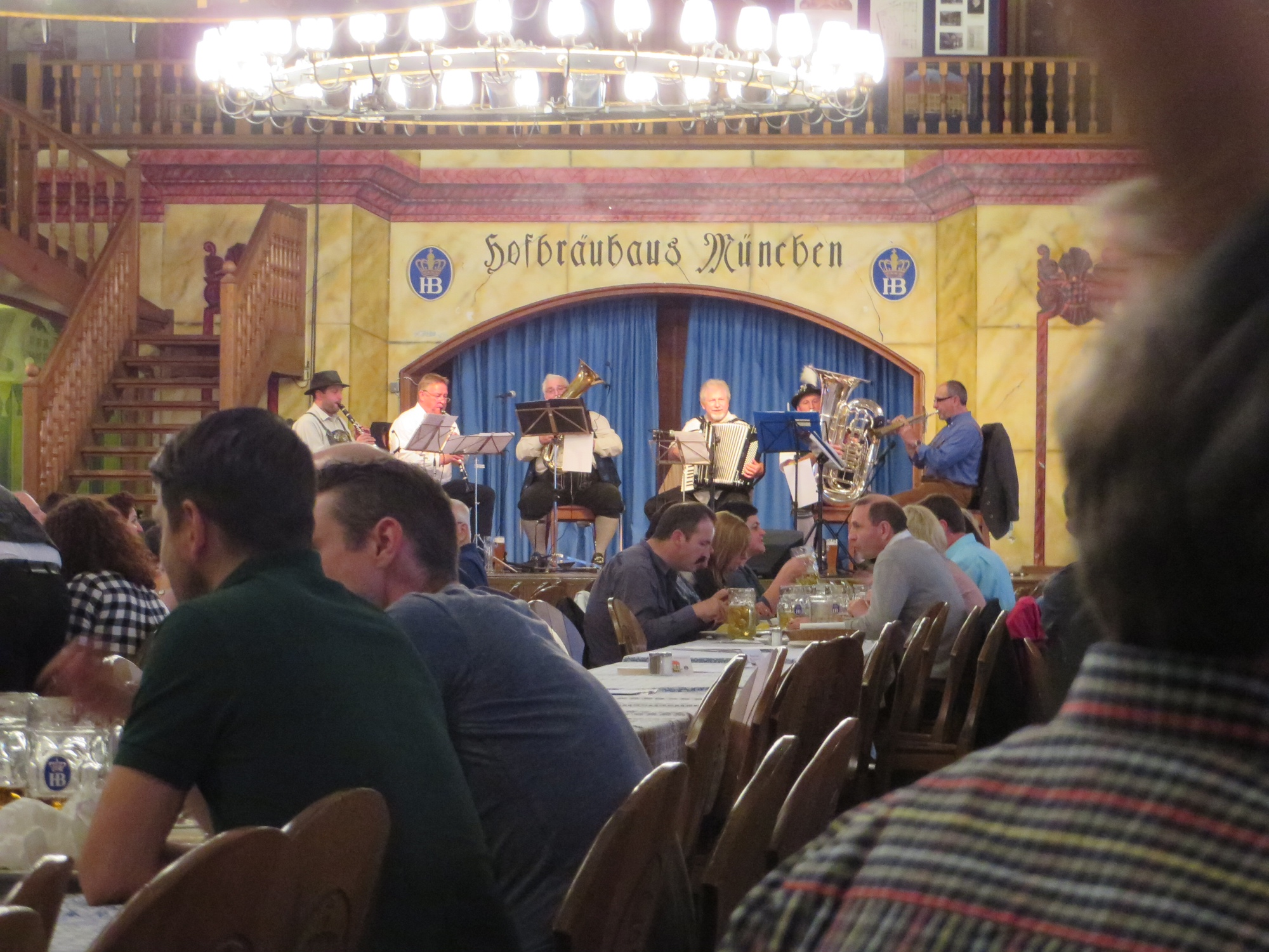 farewell dinner, hofbraühaus, Munich