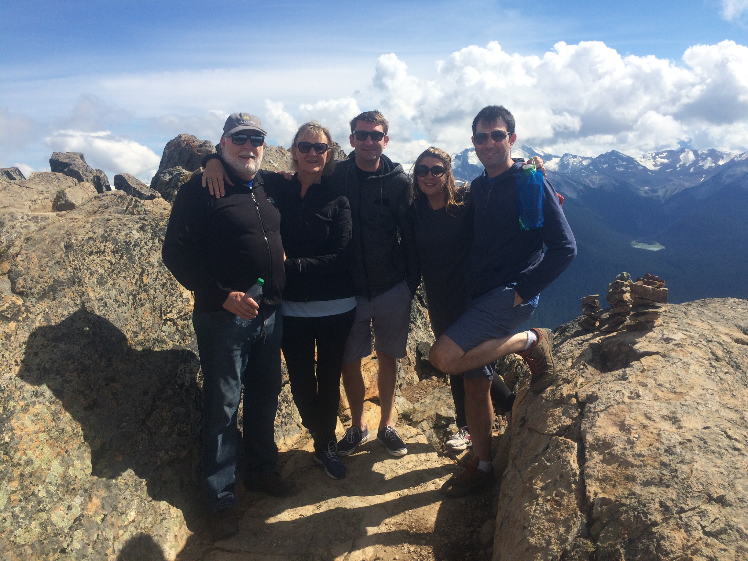 Family hike in Whistler