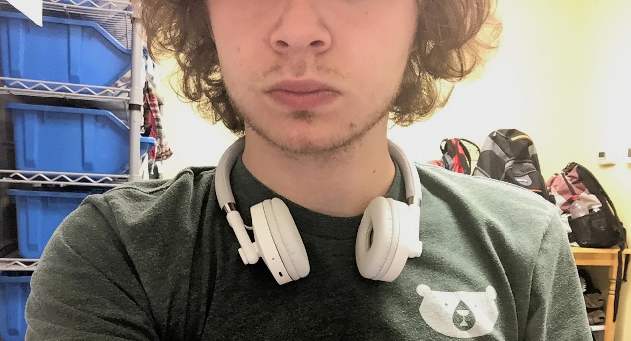 Wireless headphones make the man.