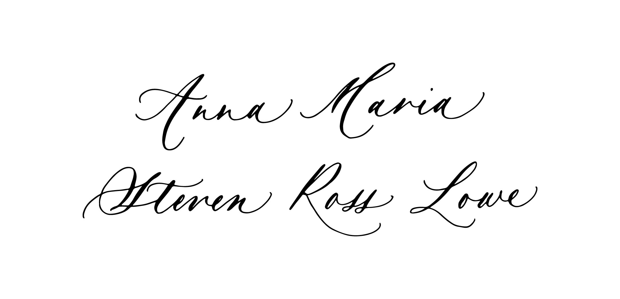 Ciarra Claire Classic Calligraphy Style