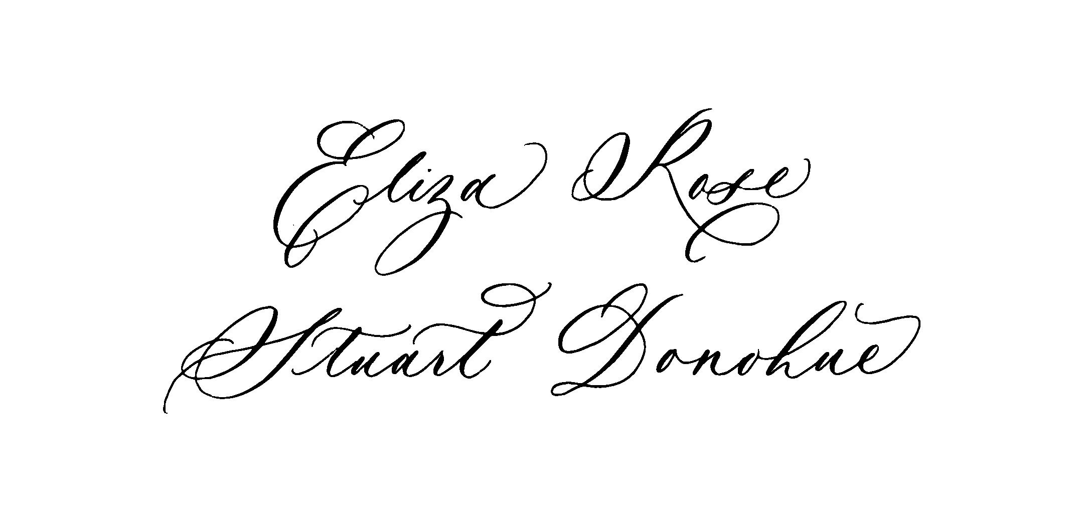 Elegant calligraphy style.