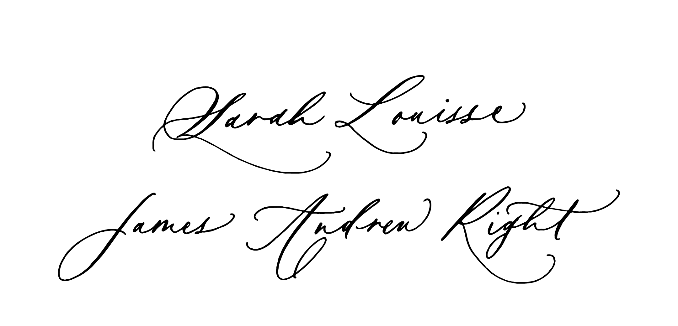 Timeless calligraphy style for Ciarra Claire Fine Art.