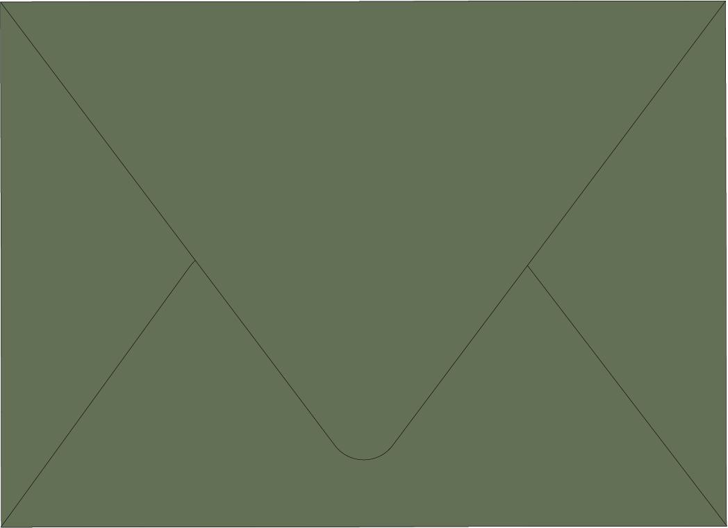 Envelope Color: Mud Green