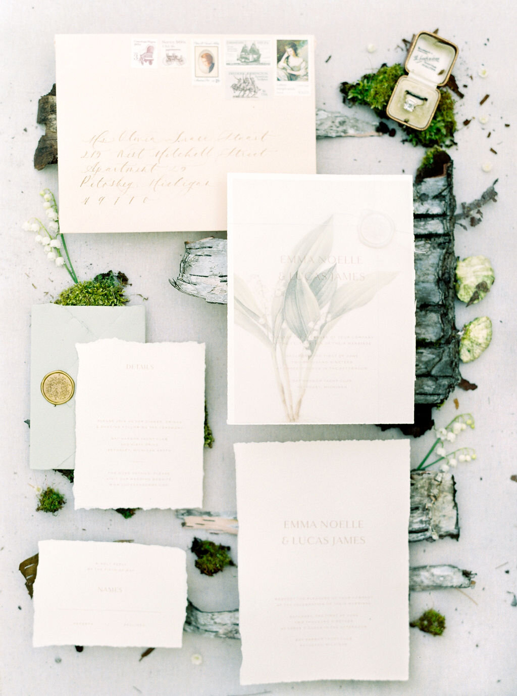Lily of the valley styled shoot for Magnolia Rogue. Photographed by  SHANELL PHOTOGRAPHY .