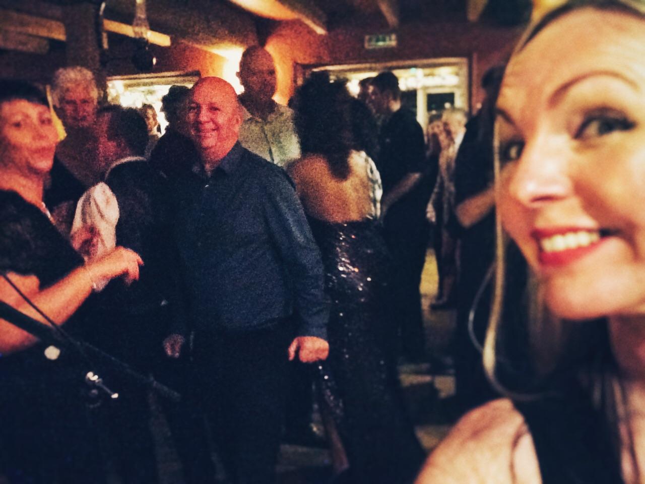 Hannah and crowd..