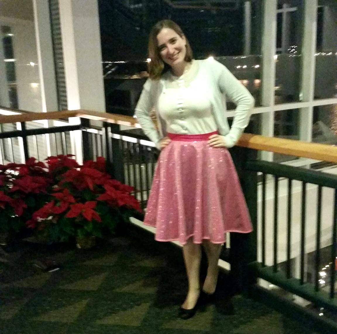 "How gorgeous does Sarah look in her Jael's Tears skirt at the theater! Apparently the compliment of the day was ""You look like a princess""! I for one wholeheartedly agree! <3"