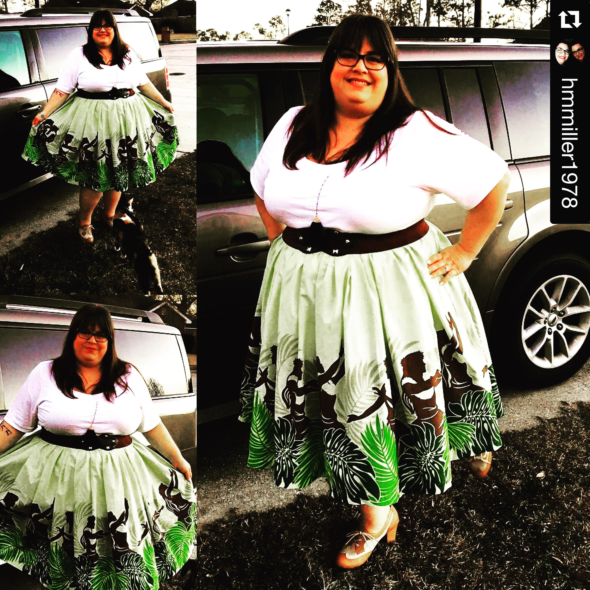 Heather is looking positively radiant in her Chimera's Hula skirt!  Are you ready for your next luau?