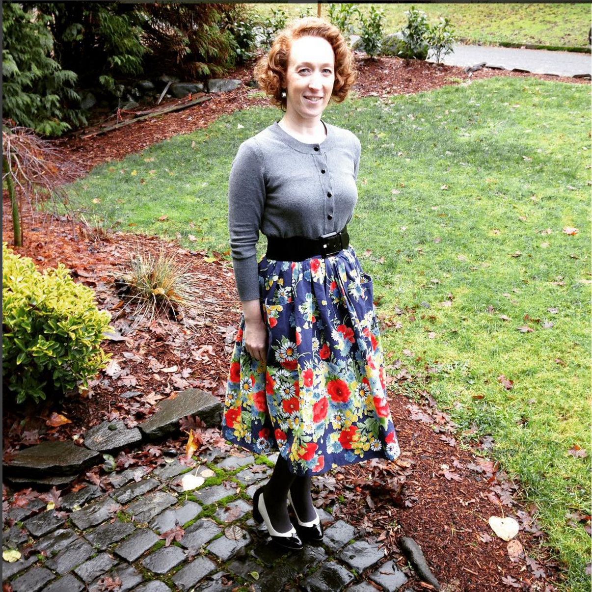 Amy is pure perfection in her Hippolyta's Garden skirt!