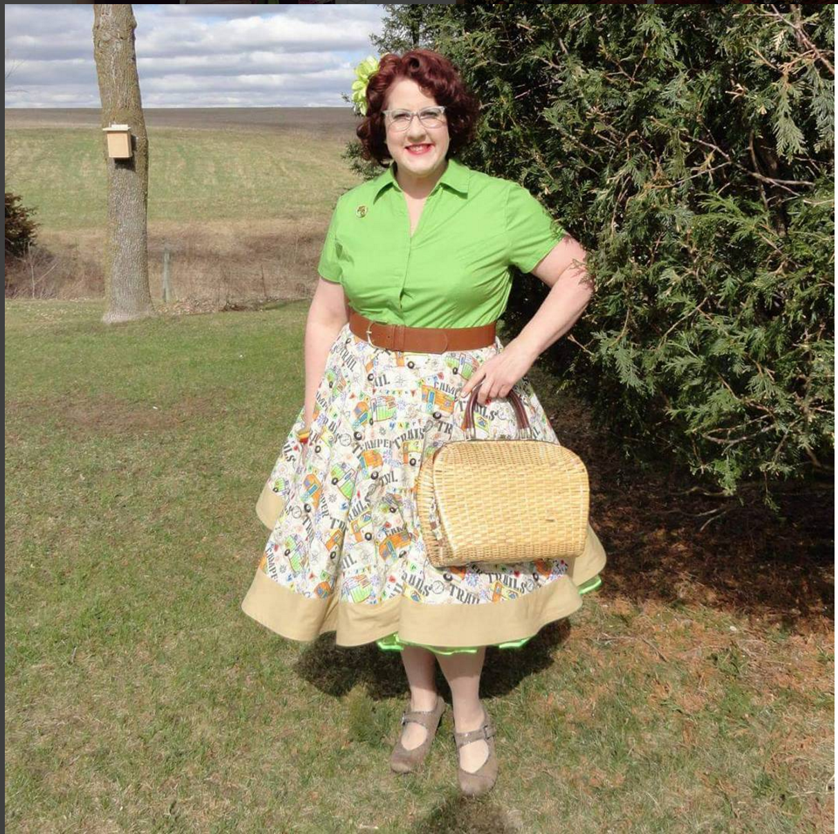 YouTuber Vintage Camper Gal is proving that you don't need a long long trailer to look like perfection...you just need a custom made vintage camper skirt!