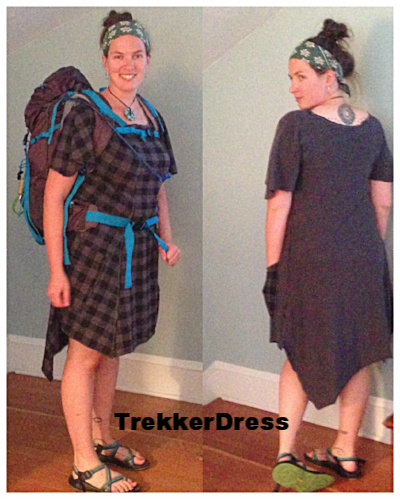 See our blog post on the fab bespoke trekker dress. Reversible jersey, deep pockets, uber comfy, asyemetric hem...i ask you, what's not to love.