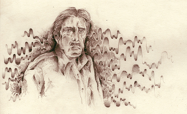 Rubem Braga (1913-1990), illustration by  Pablo Henrique Blanco .
