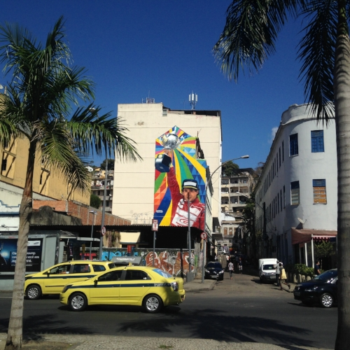 Ayrton Senna mural in Lapa, Rio de Janeiro