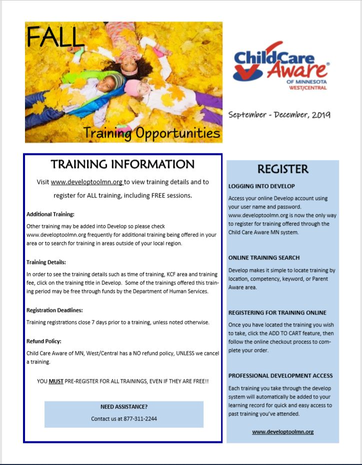 Fall Training Opportunity 2019 cover page.JPG