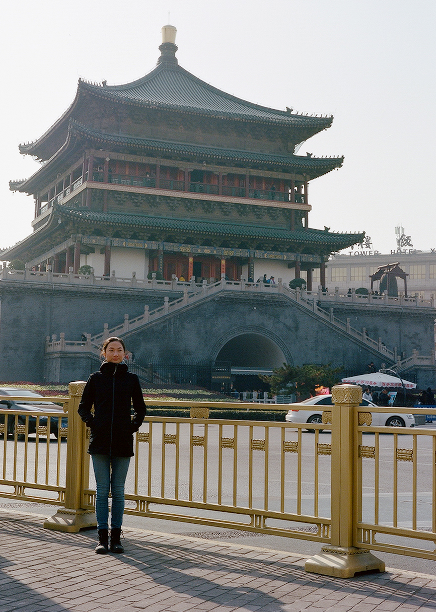 Me at the Bell Tower in Xi'an, 2017