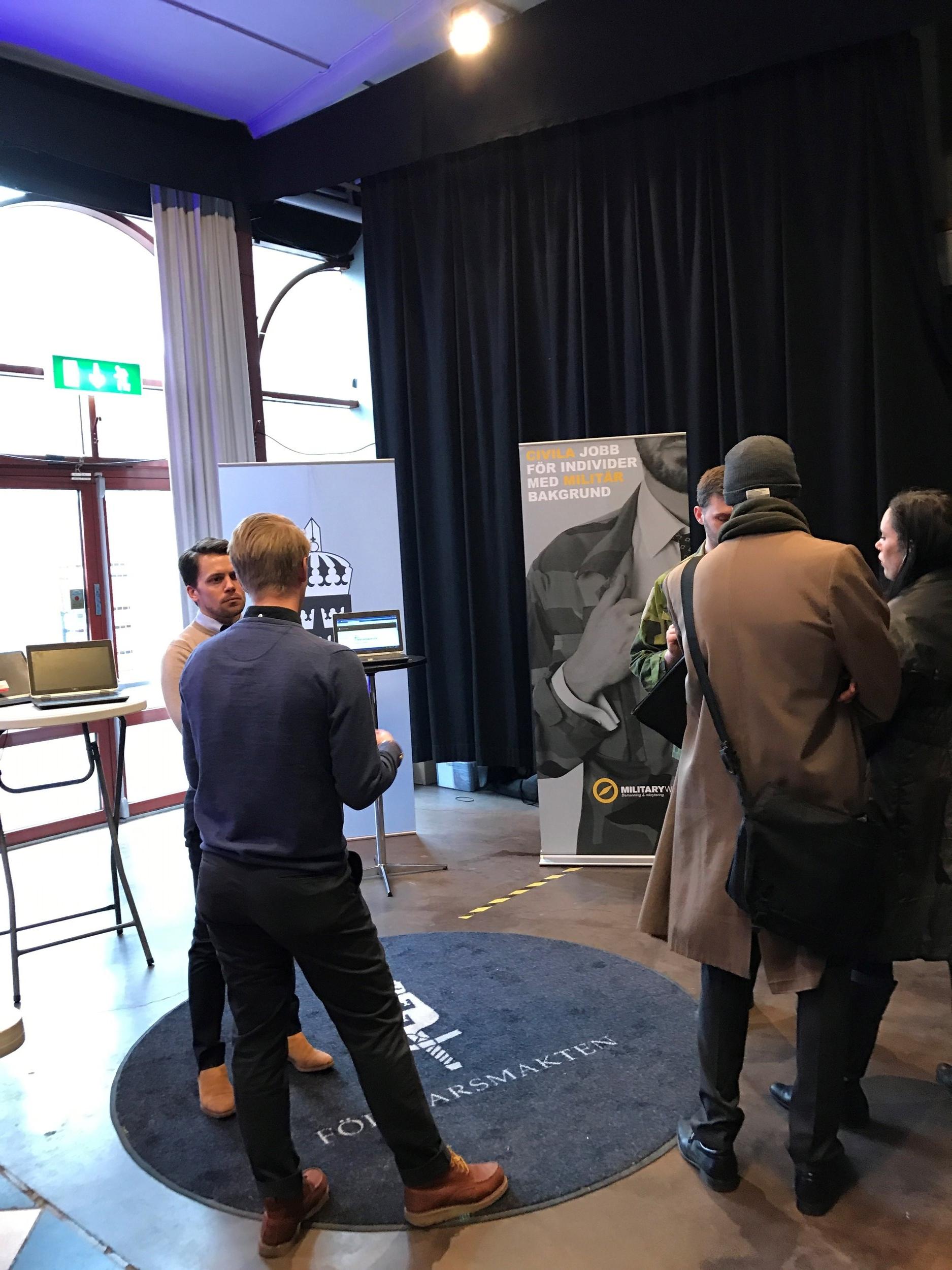 Mikael Forsberg berättar om hur Försvarsmakten och Military Work samarbetar lokalt i Skåne.