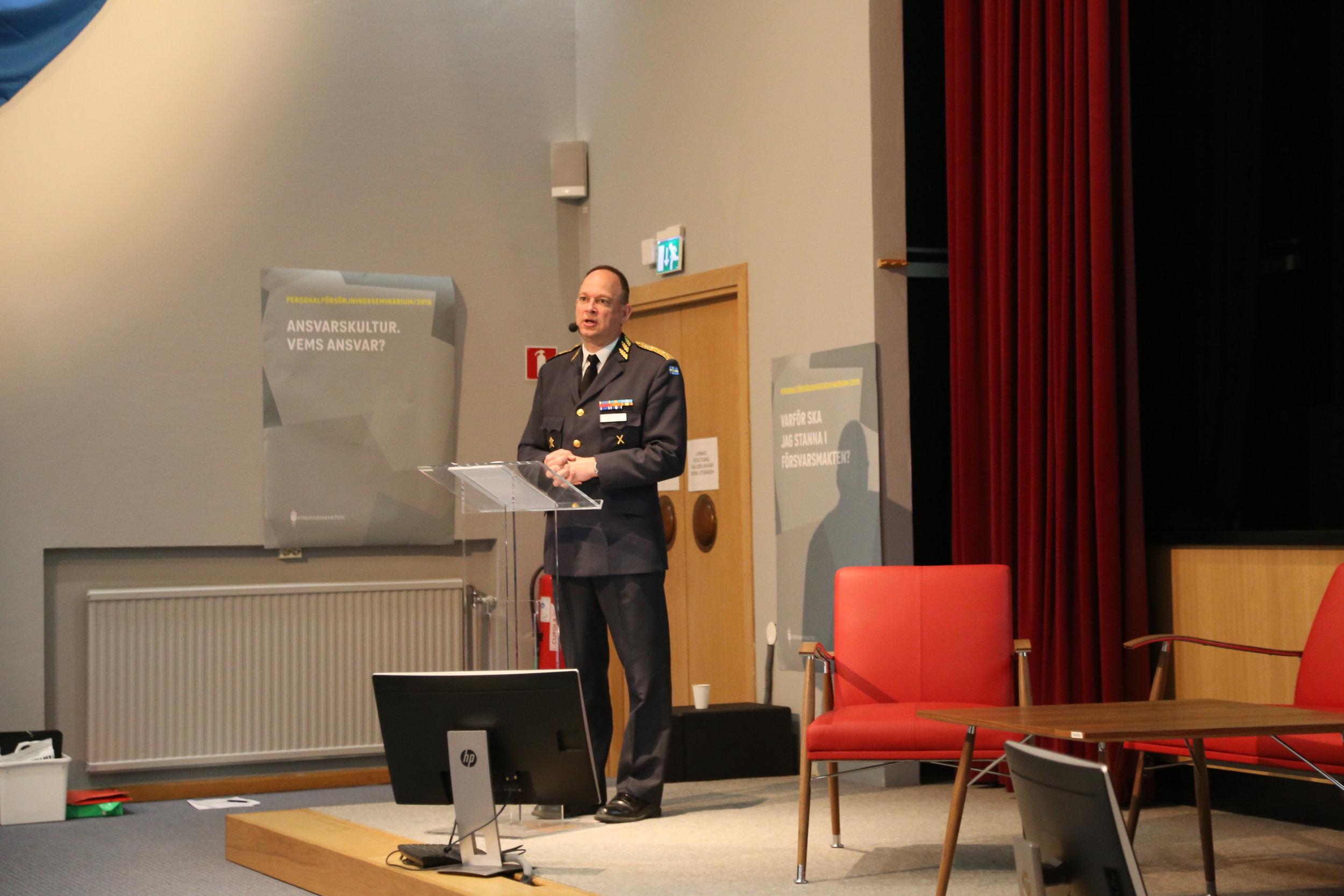 Generalmajor Anders Callert inleder årets PFS