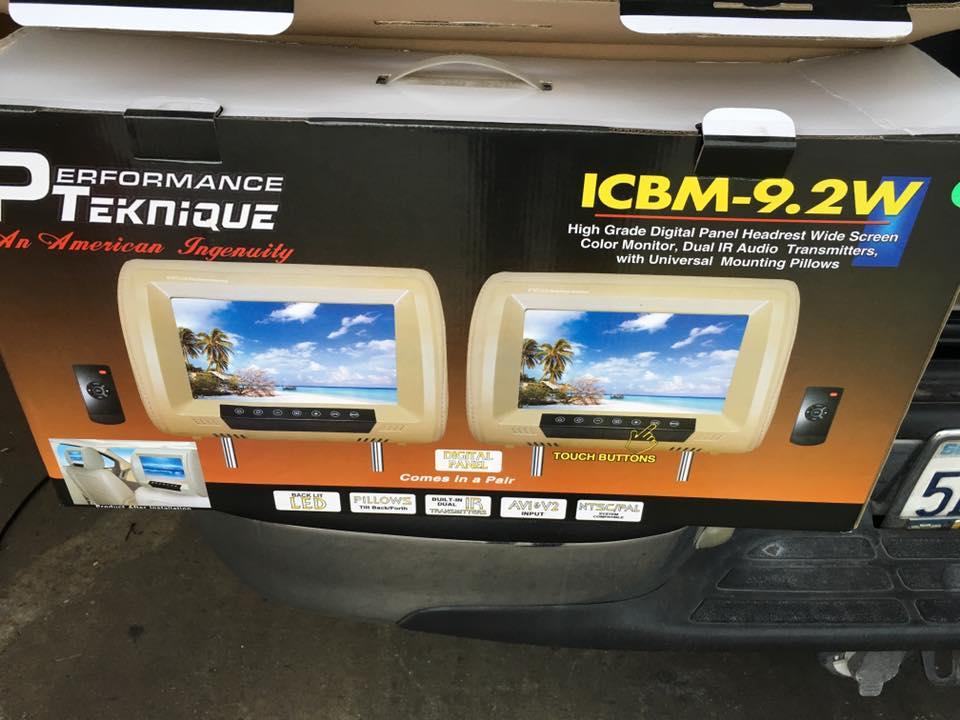 Headrest car video players from Audiosport