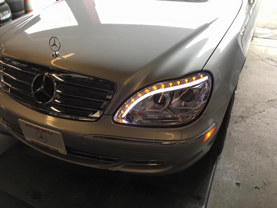 LEd Lights and headlights at Audiosport