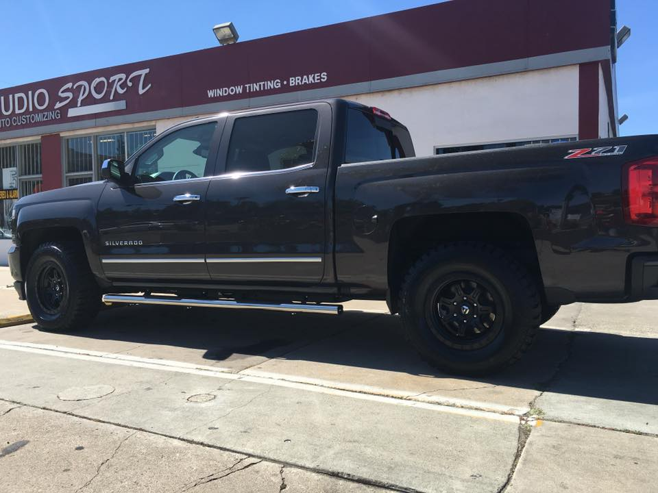 Truck tinted windows at Audiosport Escondido