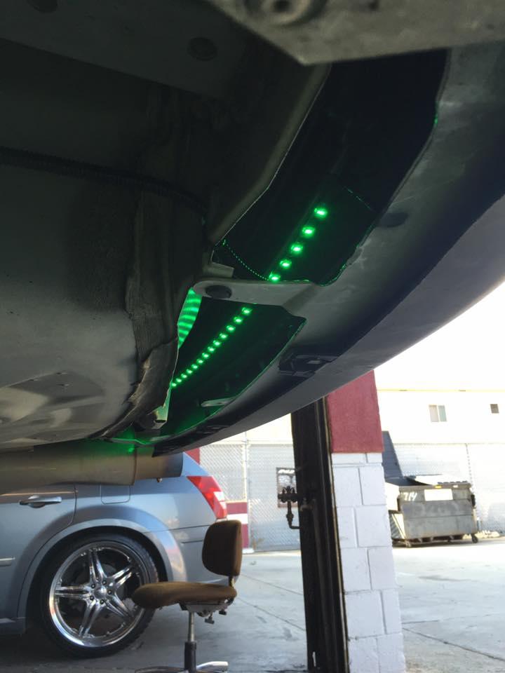LED light installation for your car at Audiosport Escondido